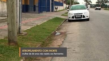 Idosa de 66 anos é morta atropelada em Rio Grande - Acidente foi na noite de quinta (04) na rua Saturnino de Brito. Sandra Maria Mourige Barbosa foi atingida por um veículo quando cruzava a rua.