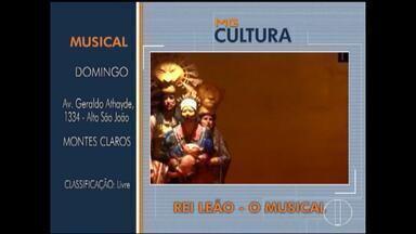 MG Cultura: Confira as dicas para o final de semana - Em Montes Claros, tem o musical o Rei Leão.
