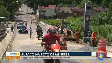 Cagepa conclui conserto e Avenida Boto de Menezes é liberada em João Pessoa - A Avenida liga o Centro aos bairros da praia.