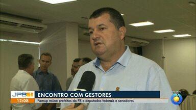 Famup reúne prefeitos da Paraíba, deputados federais e senadores em João Pessoa - Durante o encontro será discutida a pauta municipalista que está em tramitação no Congresso Nacional, entre outros assuntos.