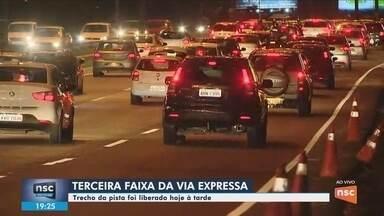 3ª faixa da Via Expressa de Florianópolis é liberada - 3ª faixa da Via Expressa de Florianópolis é liberada