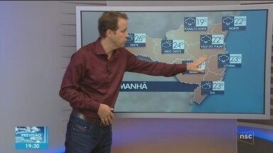 Veja como ficará o tempo em todas as regiões de SC neste sábado (6) - Veja como ficará o tempo em todas as regiões de SC neste sábado (6)