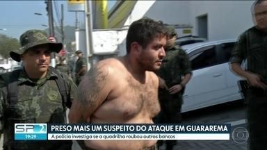 Mais um suspeito de participar do ataque a bancos em Guararema é preso - A polícia investiga se a quadrilha roubou outros bancos.