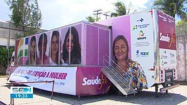 Carreta da Mulher começa a atender pacientes - Serão realizados, por dia, aproximadamente 40 procedimentos entre mamografias e ultrassonografias.