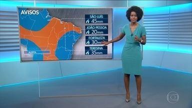 Previsão do tempo para 6/4 (sábado) - Segue o alerta de chuva para parte do Nordeste. Frio e chuva no nas serras da região Sul.