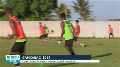 Estrela treina forte para primeiro jogo da semifinal do Capixabão - Começam amanhã as emoções da semifinal do campeonato.