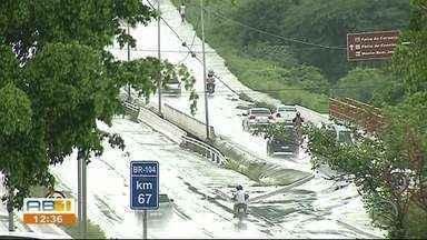 Fortes chuvas são registradas em Caruaru neste sábado (6) - Chuva durou cerca de uma hora.