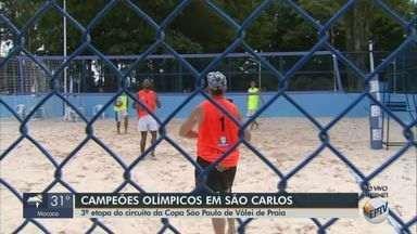 3ª etapa do Circuito da Copa São Paulo de vôlei de praia é realizada em São Carlos - Mais de 15 duplas participam da etapa que acontece até às 17h no São Carlos Clube.