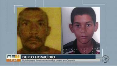 Homem e adolescente são mortos a tiros em Caruaru - Crime aconteceu em frente de uma residência no Loteamento Serranópolis.