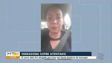 Vereadora de Santo Antônio de Leverger tem carro atingido por tiros - Vereadora de Santo Antônio de Leverger tem carro atingido por tiros