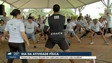 Em Campo Grande ação alerta para os riscos do sedentarismo - Segundo Ministério da Saúde, 3 em cada 100 mortes são influenciadas por falta de atividade física.