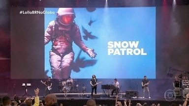 Assista aos melhores momentos do show do Snow Patrol no Lollapalooza Brasil 2019 - Grupo cantou seus sucessos