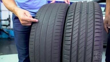 Desenho do pneu pode ajudar na aderência em curvas e frenagem - Veja como é o desempenho deste novo tipo de composto.