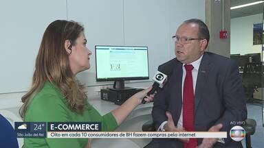 Oito em cada 10 consumidores de BH usam a internet para fazer compras - O presidente da CDL Marcelo de Souza e Silva comenta as razões dessa preferência pelo e-commerce.