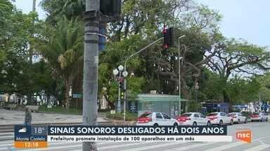 100 sinais sonoros devem ser instalados em semáforos de Florianópolis - 100 sinais sonoros devem ser instalados em semáforos de Florianópolis