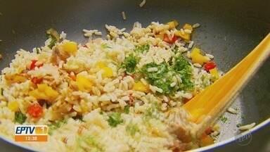 Fernando Kassab traz dica saudável para começar a semana no quadro 'Prato Feito' - Dica desta segunda-feira (8) é de arroz integral.