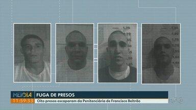 Oito presos fogem da Penitenciária Estadual de Francisco Beltrão - Foram duas fugas seguidas.