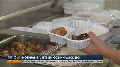 Hospital investe em cozinha modelo para preparar refeições de pacientes - O Meio-Dia Paraná de hoje (8) mostra como ficaram as novas instalações do Hospital Erasto Gaertner.