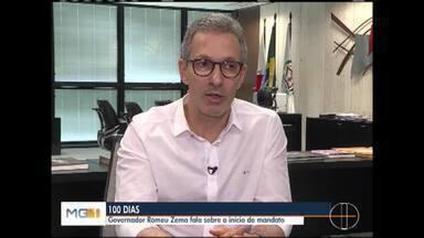 Romeu Zema completa 100 dias a frente do governo do estado - Em entrevista, ele falou das medidas tomadas nesse período.