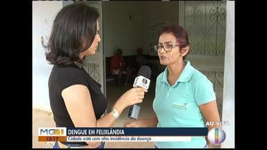 Felixlândia está com alta incidência de dengue - De janeiro até abril foram mais de mil casos suspeitos.