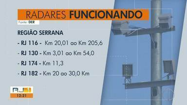 DER divulga que radares já estão em operação em várias rodovias a partir desta segunda (8) - Assista a seguir.