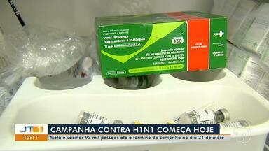 Campanha contra H1N1 em Santarém tem meta de vacinar 93 mil pessoas até 31 de maio - Combate ao vírus começa nesta segunda-feira (8). Veja quem pode se imunizar.