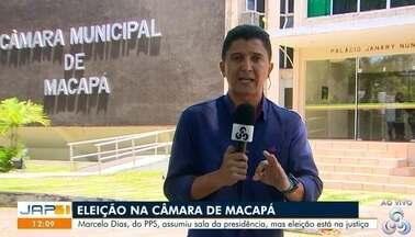 Câmara de vereadores falou hoje sobre a eleição para presidente e vice-presidente - Marcelo Dias, do PPS, assumiu sala da presidência, mas eleição está na justiça.