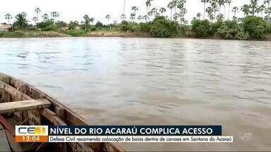 Cheia do rio complica acesso dos moradores em Santana do Acaraú - Confira outras notícias no g1.com.br/ce