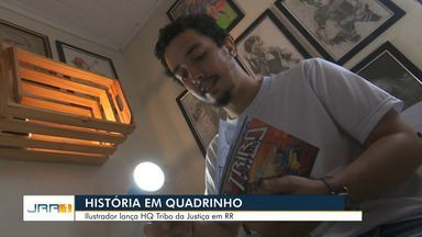 """Jovem faz histórias em quadrinhos para combater o bullying em Roraima - Artista é autor da """"Tribo da Justiça""""."""