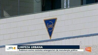 Prefeitura de Blumenau assina contratos emergenciais para manutenção pública - Prefeitura de Blumenau assina contratos emergenciais para manutenção pública