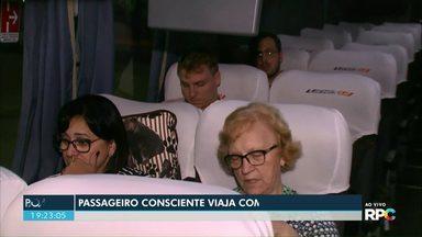 Campanha alerta passageiros sobre a importância do uso do cinto de segurança nos ônibus - Uso do cinto de segurança pode reduzir em 75% o risco de mortes em casos de acidente.