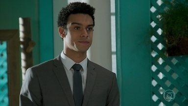 Diego avisa que o alvará do restaurante não saiu - Vanessa conta a Jerônimo que Mercedes pretende prejudicar Janaína e o rapaz decide agir para ajudar a mãe