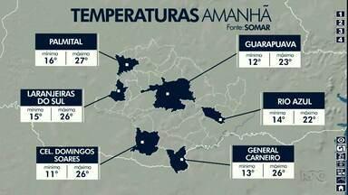 Previsão é de tempo firme em Guarapuava e região - Os termômetros não sobem muito.