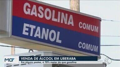 Venda de etanol já é 70% maior que gasolina em postos de Uberaba - Mesmo com desempenho menor, valor do etanol está valendo a pena em relação ao custo/consumo da gasolina.