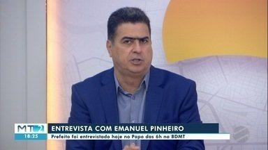 Prefeito de Cuiabá fala sobre desafios na gestão do município - Prefeito de Cuiabá fala sobre desafios na gestão do município.