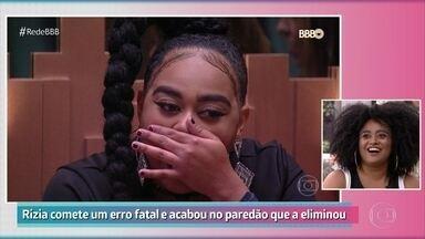 Rízia comenta confusão ao se colocar no paredão - Alagoana conta que não prestou atenção durante a votação e demorou a entender que seu voto tinha definido a disputa
