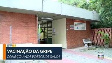 SP1 - Edição de quarta-feira, 10/04/2019 - Começa campanha de vacinação contra a gripe na cidade de São Paulo.Frutas, verduras e legumes ficaram mais caros por causa das chuvas de março. Governador João Doria completa 100 dias no cargo.