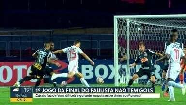 São Paulo e Corinthians empatam sem gols no primeiro jogo da final do Paulistão - Pessoas comentaram resultado nas ruas, ao vivo.