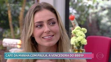Paula pretende arrumar um namorado em breve - Ex-BBB revê seu vídeo de apresentação e conta que já namorou sério 4 vezes