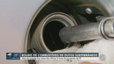 Estado de São Paulo registrou metade dos casos de furto de dutos de combustível do país - Números revelam que metade dos furtos de dutos de combustível ocorridos no país nos últimos três anos acontece no Estado de São Paulo.