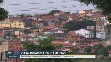 Família fica refém de bandidos por meia hora durante roubo em Campinas - Três bandidos armados fizeram uma família refém no Jardim Aeronave de Viracopos.