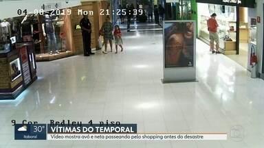 Imagens mostram avó e neta, horas antes do deslizamento, passeando em shopping - Júlia Aché, Lúcia Neves e o taxista Marcelo Tavares morreram durante a chuva que deixou a cidade em estágio de crise.