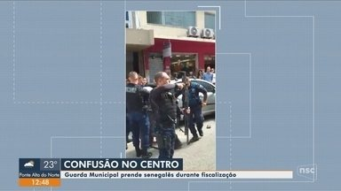 Senegales preso em fiscalização da Guarda Municipal de Florianópolis é solto - Senegales preso em fiscalização da Guarda Municipal de Florianópolis é solto