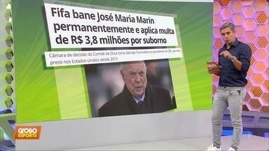 Fifa bane José Maria Marin e aplica multa milionária ao ex-presidente da CBF - Fifa bane José Maria Marin e aplica multa milionária ao ex-presidente da CBF