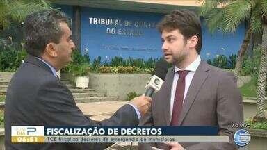 TCE fiscaliza decretos de emergência de municípios - TCE fiscaliza decretos de emergência de municípios