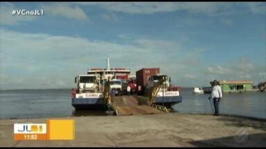 Caminhoneiros passam a embarcar em balsas no porto de Icoaraci - Medida foi tomada para desafogar trânsito na av. Bernardo Sayão.