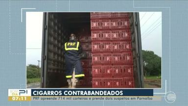 PRF apreende mais de 700 mil carteiras de cigarro contrabandeadas - PRF apreende mais de 700 mil carteiras de cigarro contrabandeadas