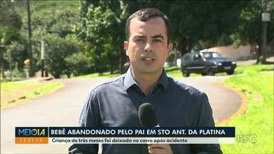 Criança de três meses é deixada no carro após acidente - Bebê foi abandonado pelo próprio pai. Caso foi registrado em Santo Antônio da Platina.