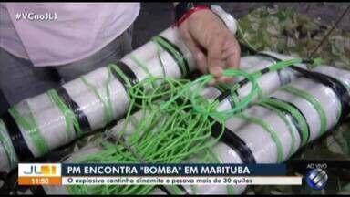 Polícia Militar apreende material explosivo em Marituba - Comandante da PM explica o caso.