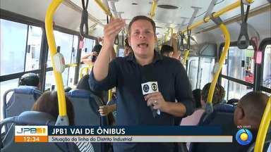 Passageiros reclamam da demora dos ônibus em João Pessoa - O repórter Danilo Alves acompanhou a viagem e ouviu os passageiros da linha do Distrito Industrial.